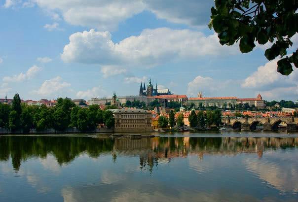 Klassenfahrt nach Prag: Moldaupanorama