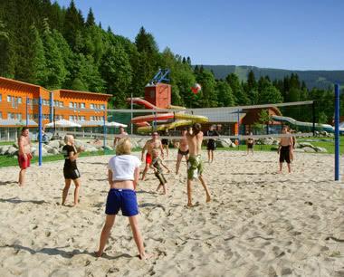 Klassenfahrt Spindlermühle: Volleyball