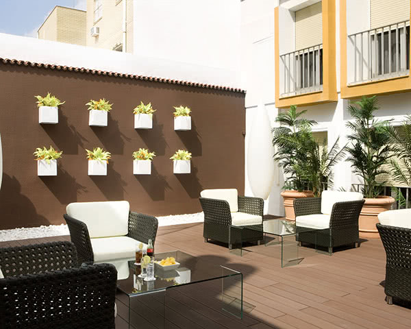 Klassenreisen Hotel Virgen de los Reyes: Dachterrasse