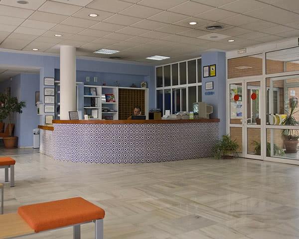 Kursfahrt Inturjoven Hostel Sevilla- Rezeption