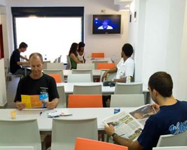 Schulfahrt Center Valencia Hostel: Speiseraum