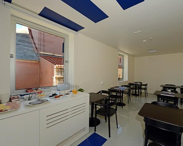 Jugendfahrt Hostel Zadar- Frühstücksbereich