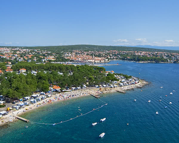 Klassenreise Ferienanlage Jezevac****: Luftaufnahme