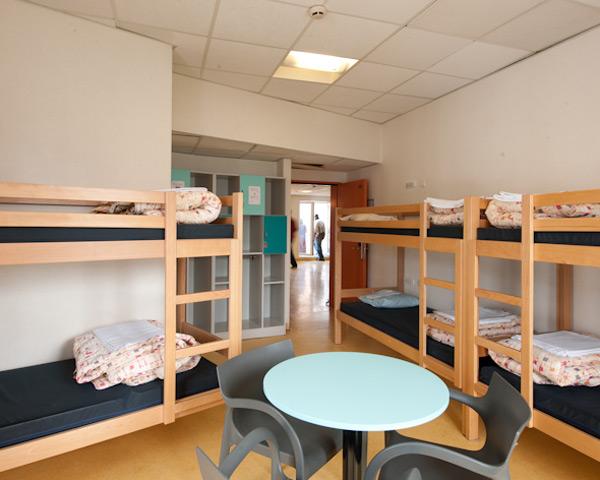 Schülerreisen Jugendherberge Jacques Brel: Zimmerbeispiel