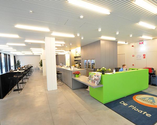 Studienfahrt Jugendherberge Oostende- Rezeption