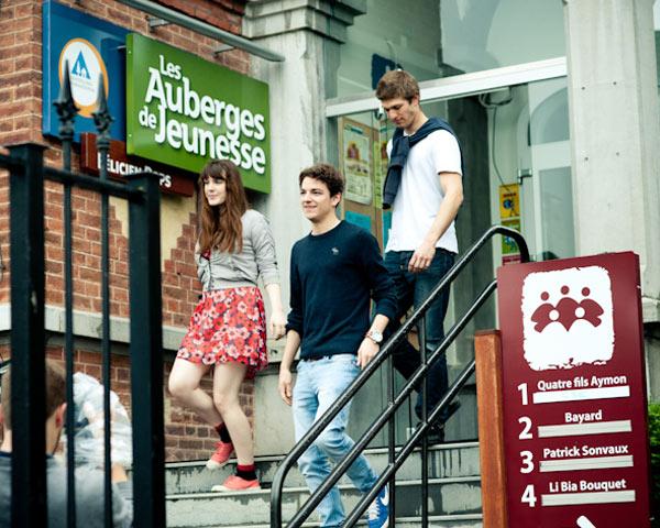 Schulreise Jugendherberge Namur: Eingang
