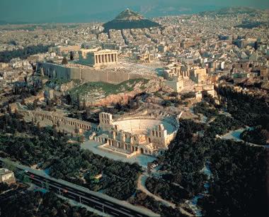 Klassenfahrt Griechenland: Athen-Stadtsilhouette