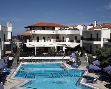 Kursreise 3-Sterne Strandhotel in Gouves: Außenansicht