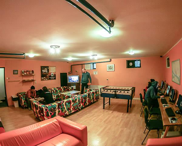 Abschlussreise Patio Hostel: Aufenthaltsraum