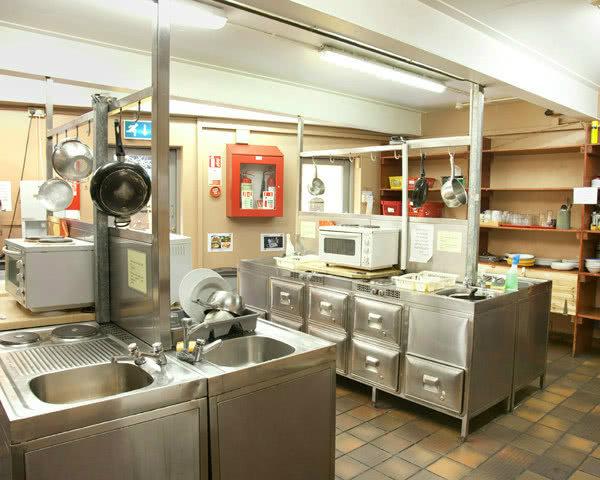 Kursfahrt Dublin Isaacs Hostel- Küche