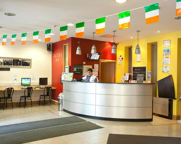 Schülerreisen Dublin Jacobs Inn- Rezeption