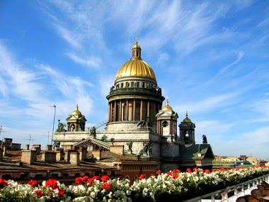 Kursfahrt nach Russland - Isaacskathedrale in Sankt Petersburg