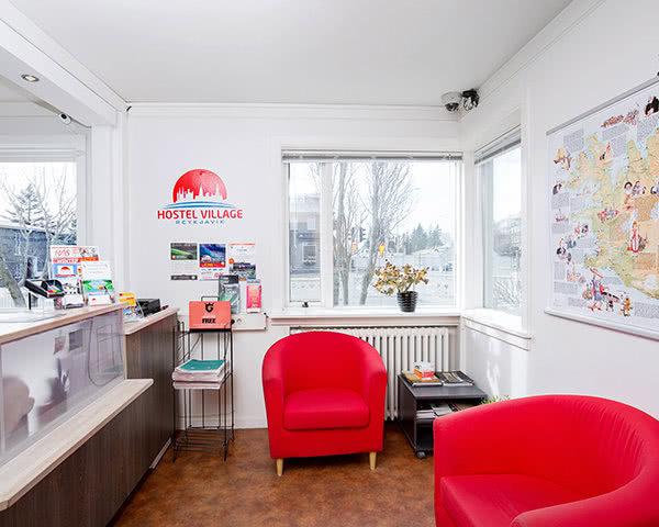 Schulreise Hostel Village Reykjavík: Rezeption