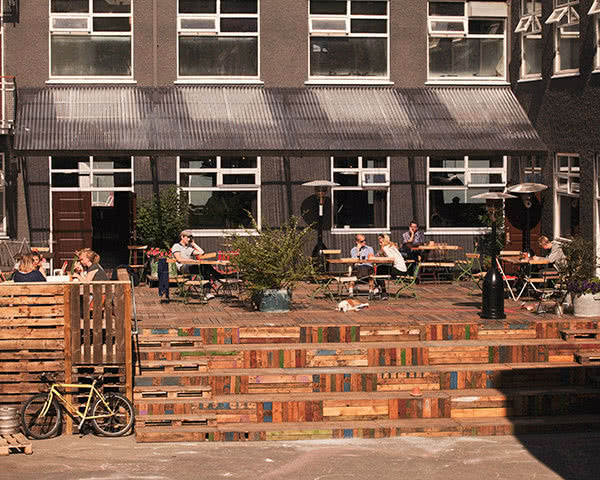 Jugendfahrt Kex Hostel- Terrasse
