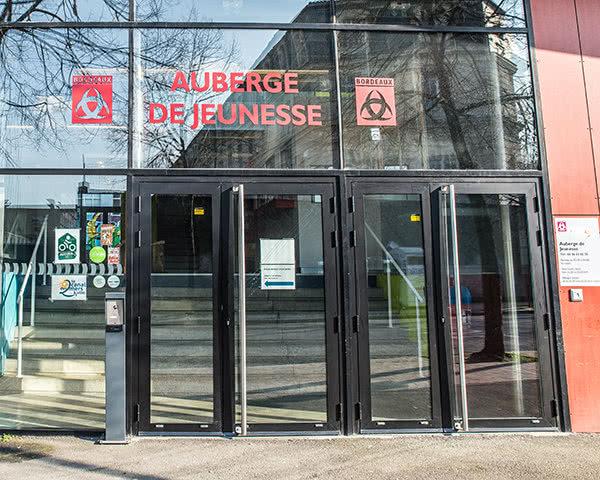 Klassenfahrt Jugendherberge Bordeaux- Eingang