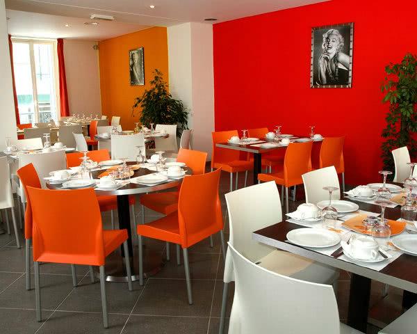 Speisesaal im 3 Sterne - Hotel Azuréa in Nizza