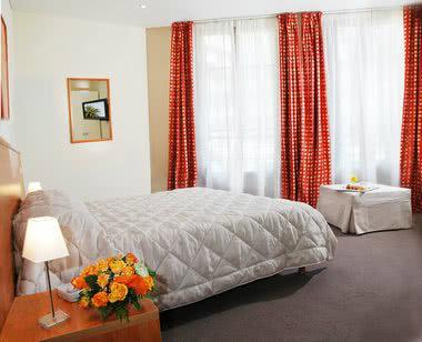 Schulfahrt Nizza: ein Zimmer im Hotel Azuréa