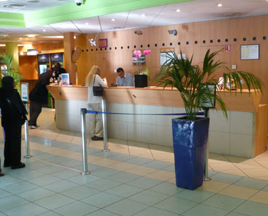 Klassenreise Etap-Hotel Strasbourg- Rezeption