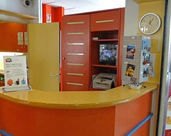 Studienfahrt Hotel Ibis Budget Colmar Center- Rezeption