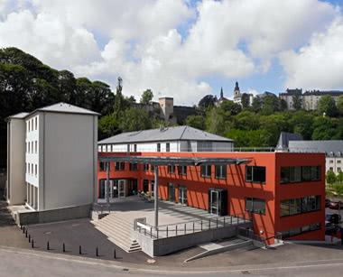 Schulfahrt Luxemburg City Hostel- Außenansicht