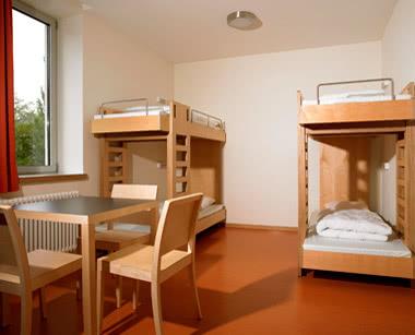 Klassenfahrt Luxemburg City-Hostel- Zimmerbeispiel