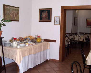 Schulreise Touristenhotel Florenz: Frühstücksraum