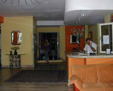 Kursfahrt Hotel in Montecatini- Rezeption