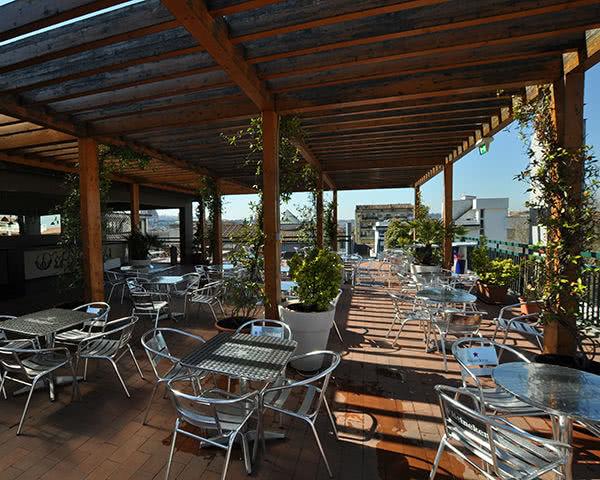 Kursreise Plus Hostel Florenz: Dachterrasse