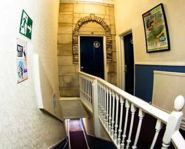 Kursfahrt St. Christopher's Inn Bath: Treppenaufgang