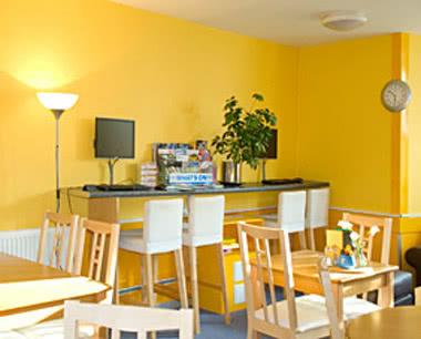 Abifahrt SYHA Glasgow Central- Frühstücksraum