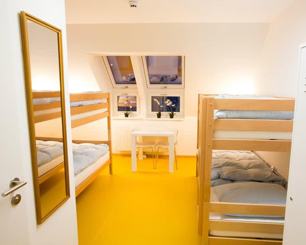Kursfahrt a&t Holiday Hostel Wien- Zimmerbeispiel