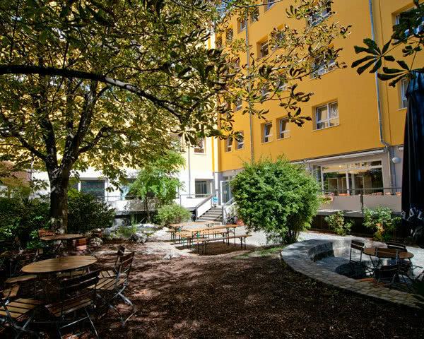 Schulreise Haus International München- Terrasse