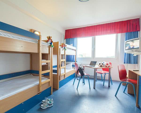 Klassenreise Hotel Kolumbus: Zimmerbeispiel Vierbettzimmer