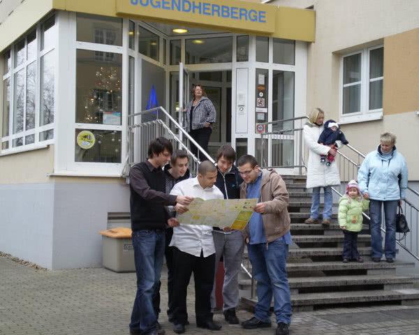 Kursfahrt Jugendgästehaus Maternistraße- Eingang