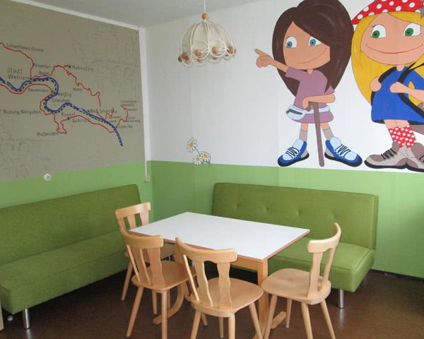 Schulreise Jugendherberge Pirna: Aufenthaltsraum