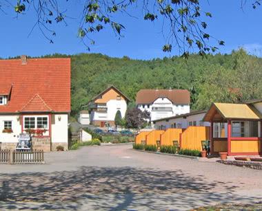 Schulfahrt Ferienanlage Edersee: Hofansicht