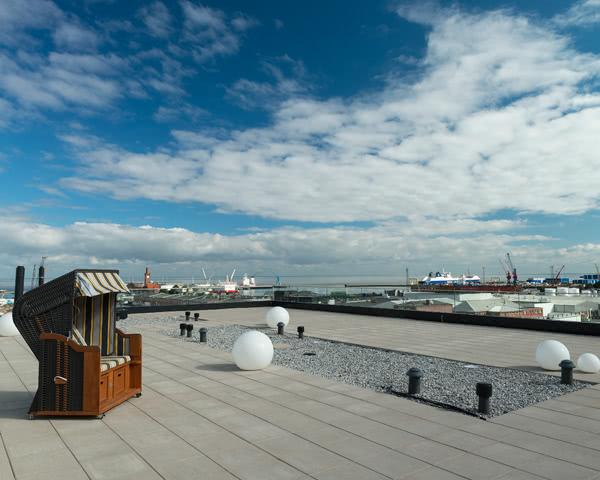 Jugendreise Havenhostel Cuxhaven: Dachterrasse