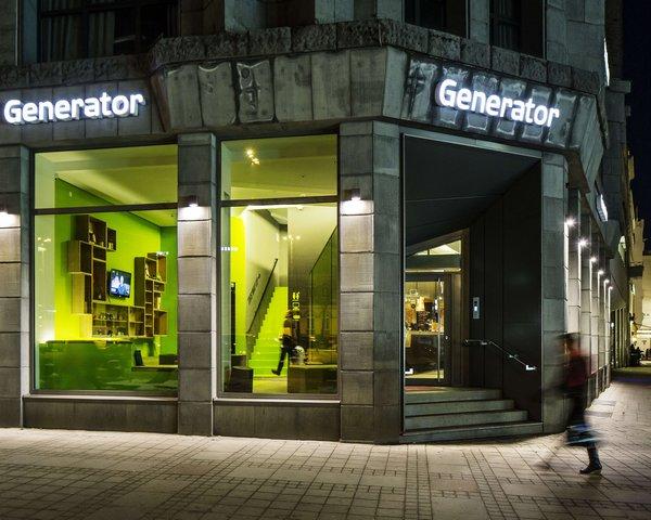 Das Generator Hostel in Hamburg von außen
