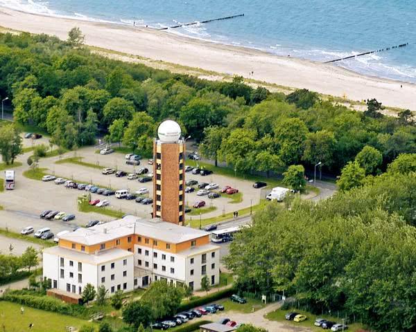 Studienreise Jugendherberge Warnemünde: Luftbild