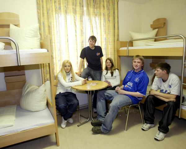 Kursfahrt Jugendherberge Warnemünde - Zimmerbeispiel
