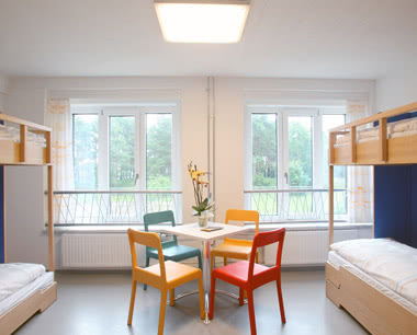 Kursfahrt Jugendherberge Binz-Prora- Zimmerbeispiel