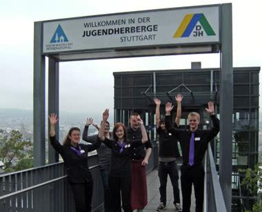 Klassenfahrt Jugendherberge Stuttgart International- Eingang