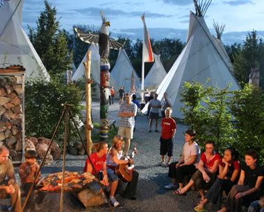 Schulfahrten Camp Resort Europapark Rust: Lagerfeuer