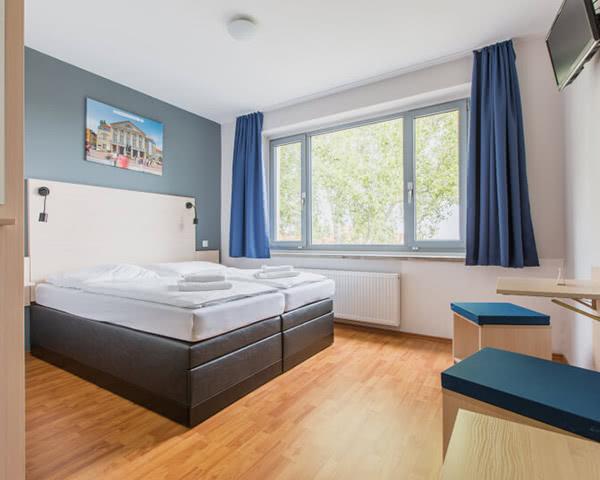 Gruppenfahrt A&O Hostel Weimar- Zimmerbeispiel