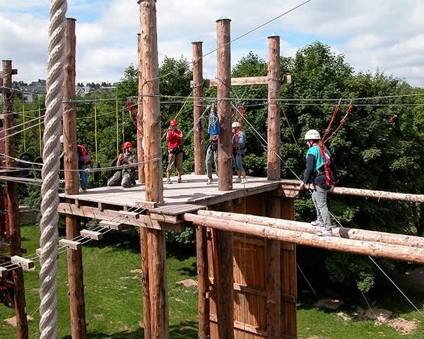 Klassenfahrt Thüringen: Kletterwald Hohenfelden