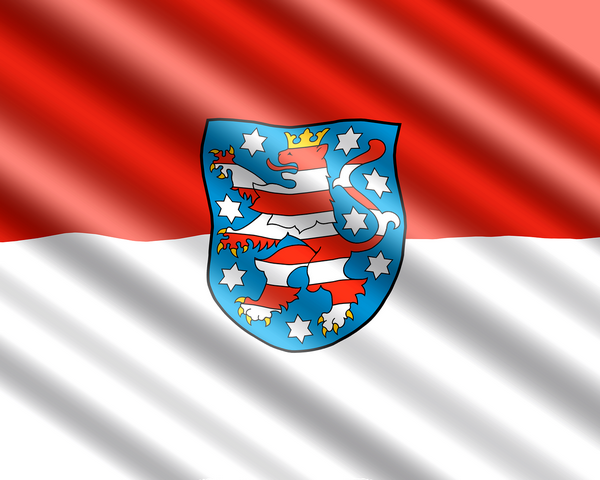 Die Flagge von Thüringen