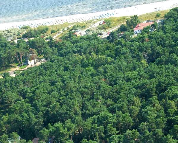 Schulreise Strandgut Trassenheide: Luftaufnahme