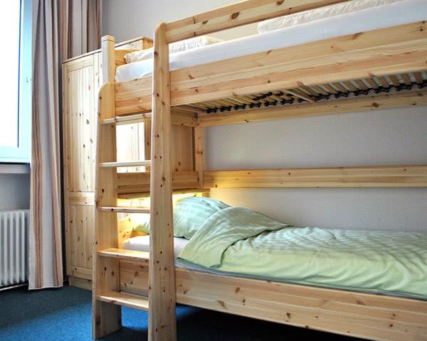 Jugendfahrten Flambacher Mühle- Zimmerbeispiel Mehrbettzimmer