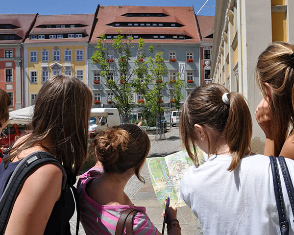 Gruppenfahrt Impressionen Bautzen- Jugendliche Hauptmarkt
