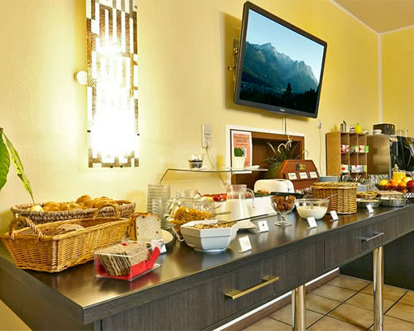Abschlussreise Hostel 2962: Frühstücksbuffet
